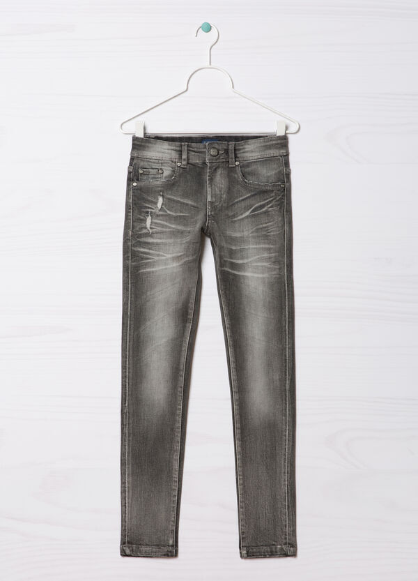 Jeans slim fit effetto used Blue Black | OVS