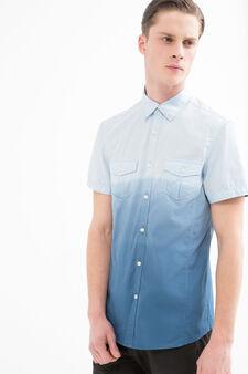 G&H 100% cotton degradé shirt, Blue, hi-res