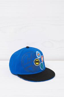 Baseball cap with superhero print, Blue, hi-res