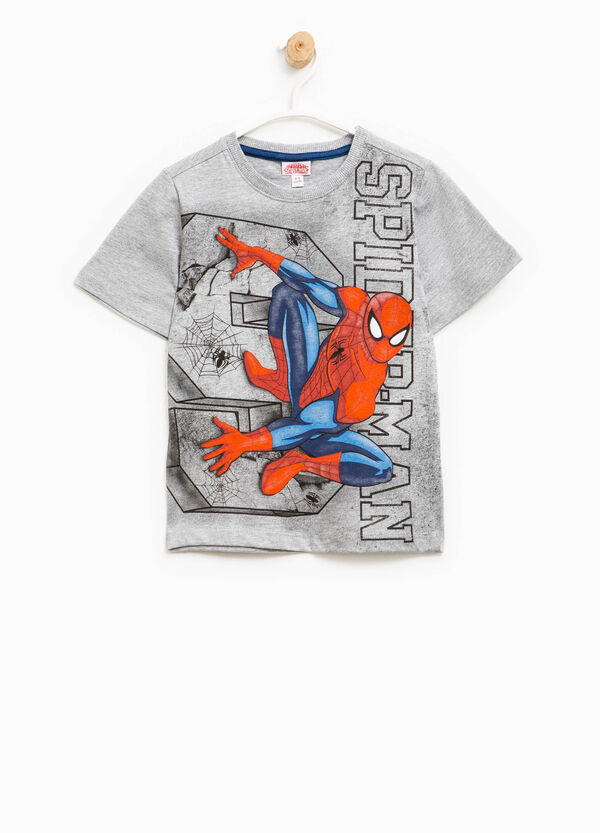 Mélange T-shirt with Spiderman print | OVS
