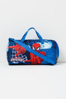 Cross body bag with Spiderman print, Navy Blue, hi-res