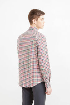 Regular-fit formal shirt with button-down collar, Grey/Red, hi-res