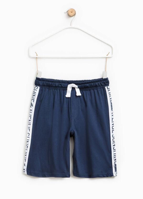 Bermuda shorts with printed bands   OVS