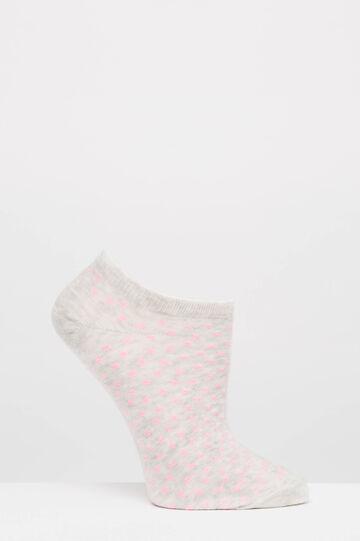 Set tre paia di calze corte fantasia, Grigio/Rosa, hi-res