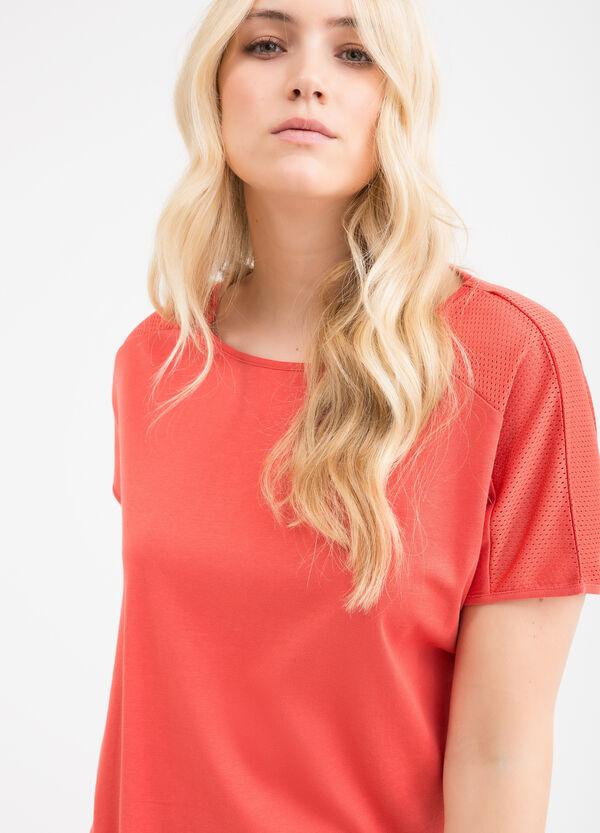 Curvy solid colour cotton T-shirt   OVS