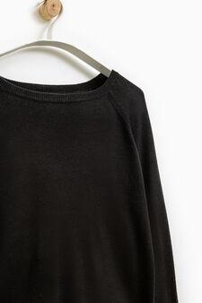 Smart Basic solid colour pullover, Black, hi-res