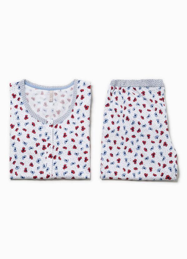 Pijama con estampado floral y volantes | OVS