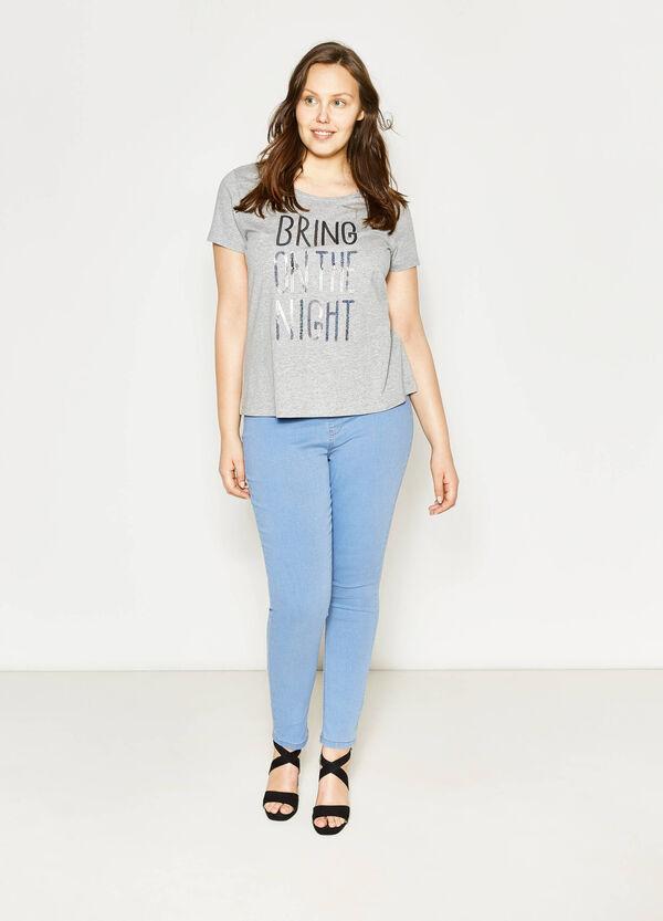 T-shirt in cotone con paillettes Curvy | OVS