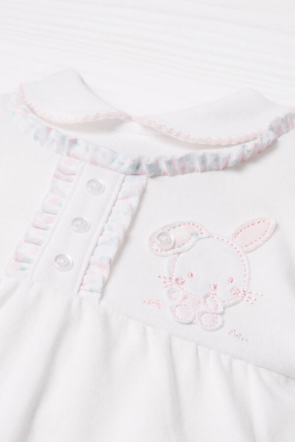 100% cotton onesie with feet | OVS