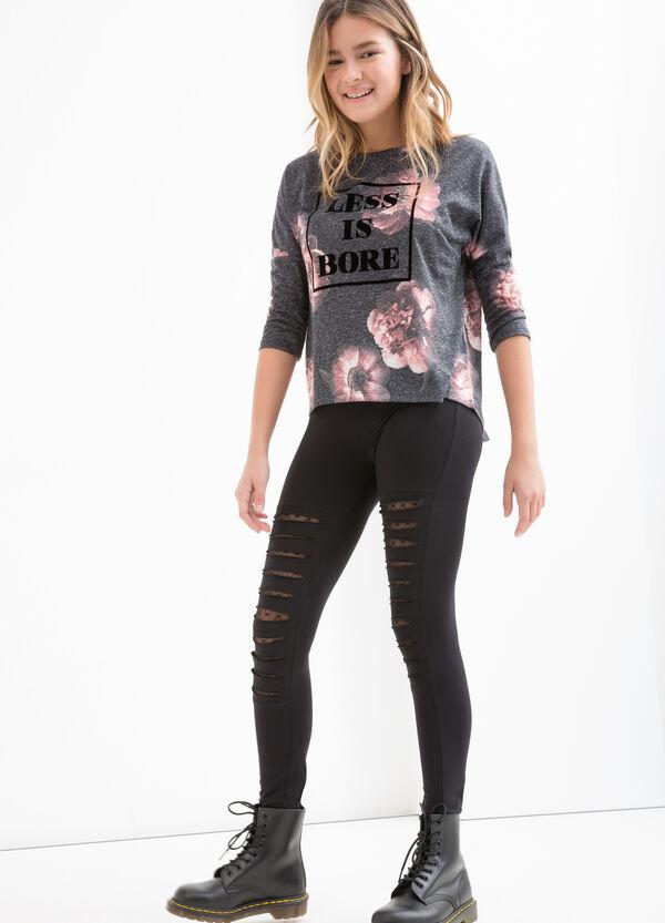 Teen linen blend patterned T-shirt | OVS