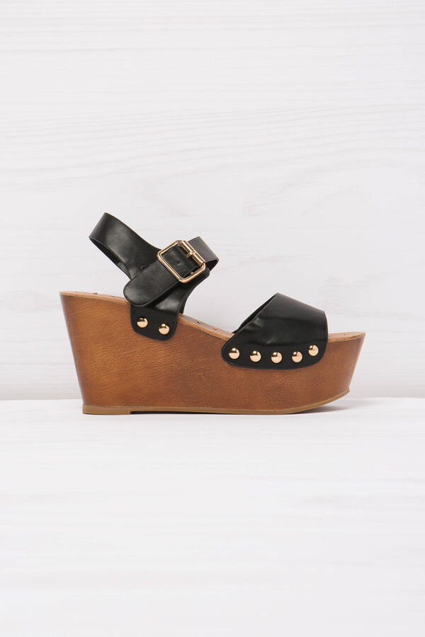 Sandals with wedge and studs | OVS