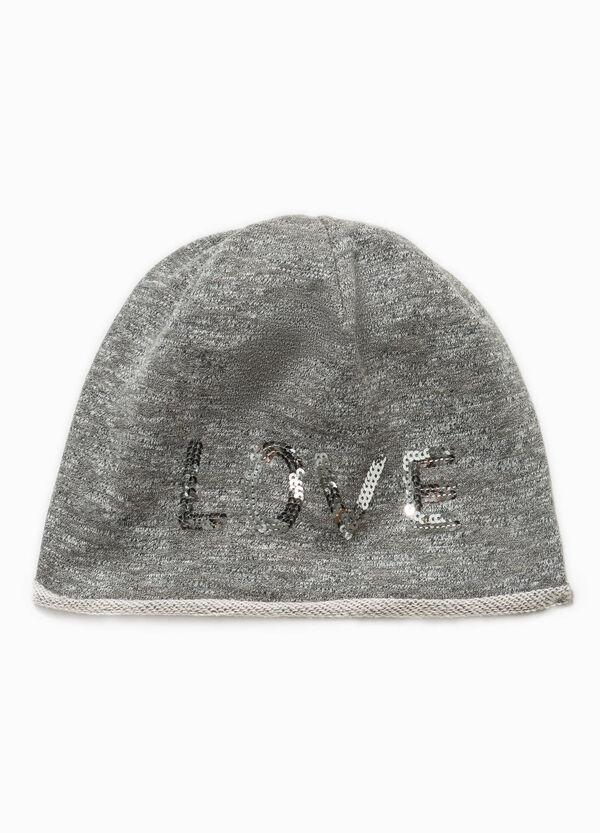 Mélange beanie cap with sequins | OVS