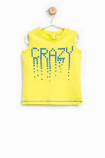 Vest top with printed lettering