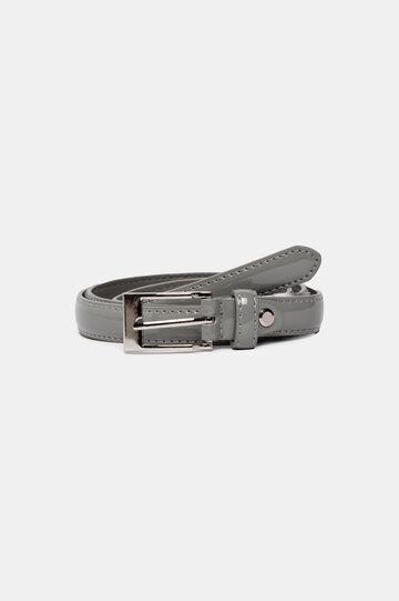 Cintura sottile lucida, Grigio, hi-res