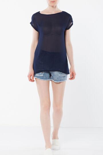 Transparent T-shirt, Dark Blue, hi-res