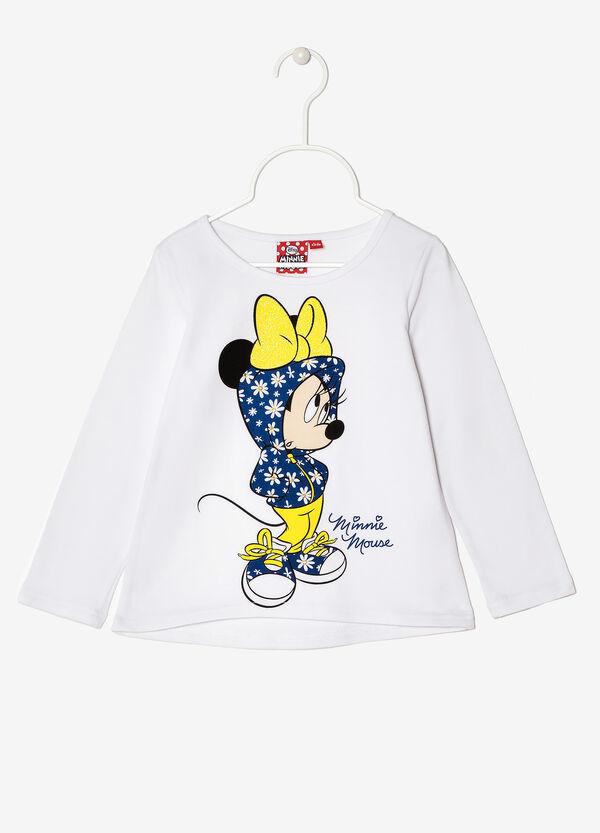 T-shirt with cartoon print and rhinestones | OVS