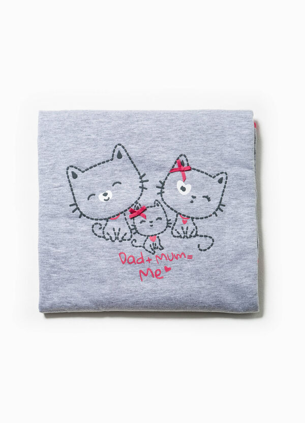 Blanket with bows and cats print | OVS