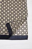 Printed scarf, Black, hi-res