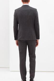 Elegant stretch suit with slim fit, Grey, hi-res
