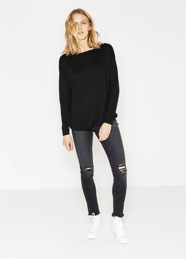 Ribbed pullover | OVS