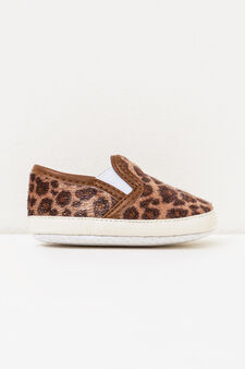 Animal print slip-ons, Light Brown, hi-res