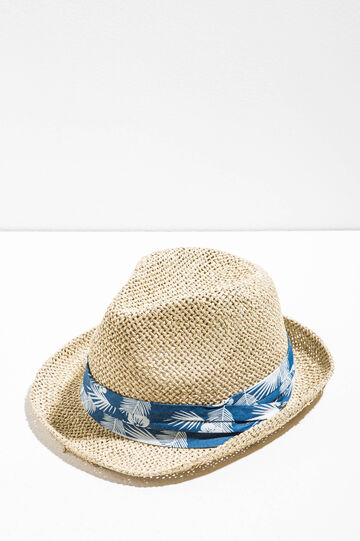 Straw hat with wide brim, Natural, hi-res