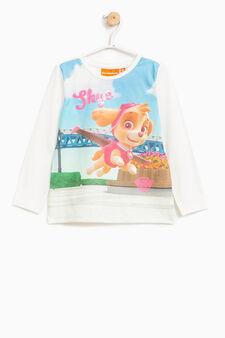 Stretch T-shirt with Paw Patrol print, Milky White, hi-res