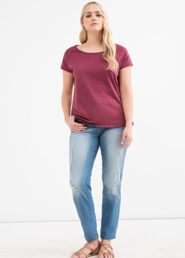 T-shirt tinta unita cotone Curvy | OVS