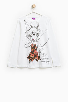 100% cotton Trilly print T-shirt, White, hi-res