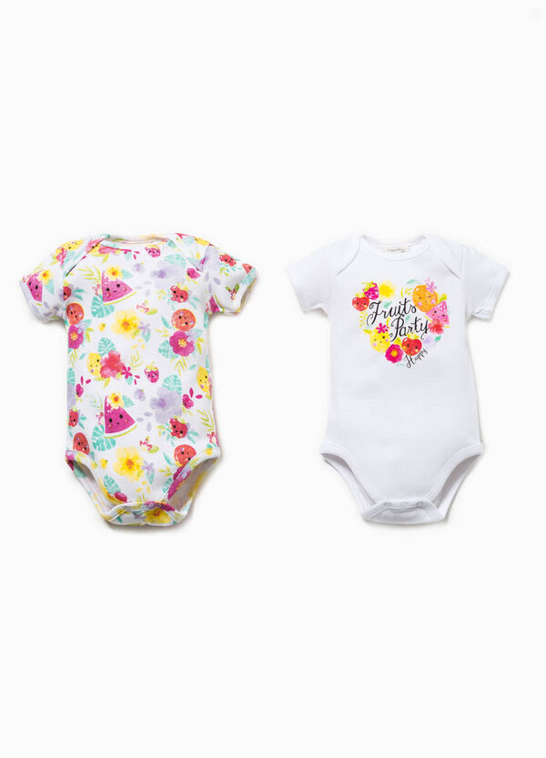Set of two bodysuits with short sleeves | OVS