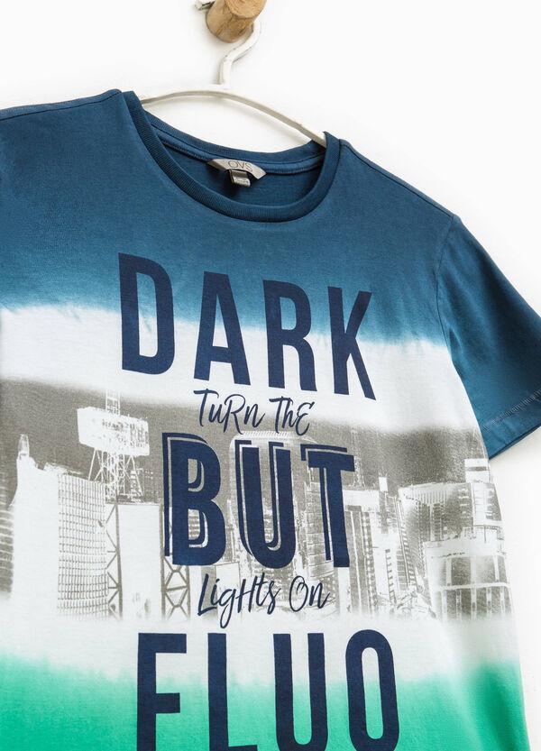 Two-tone printed T-shirt | OVS