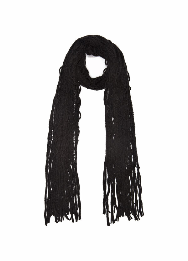 Openwork design scarf. | OVS