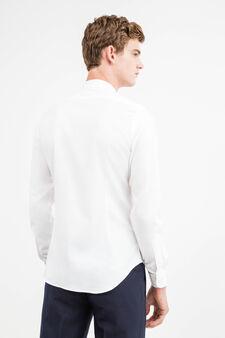 Custom-fit cotton formal shirt, White, hi-res