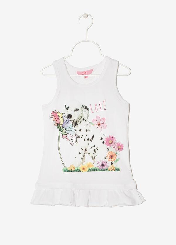 Sleeveless rhinestone T-shirt | OVS