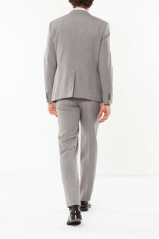 Elegant slim-fit suit, Light Grey, hi-res