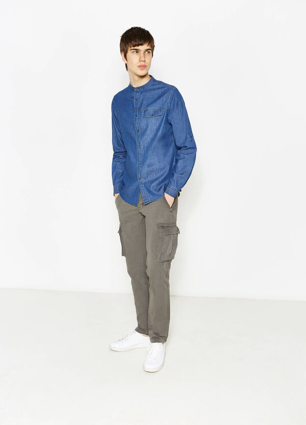 Regular-fit, cargo chino trousers | OVS