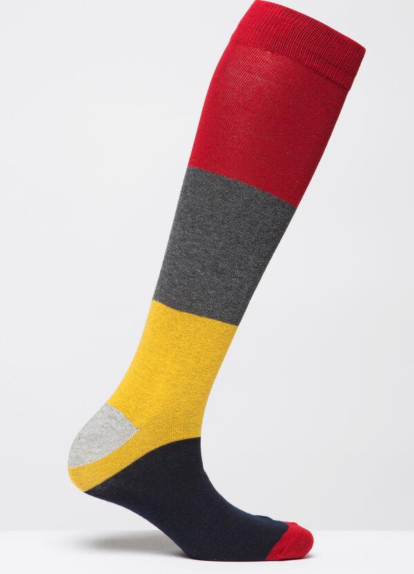 Stretch cotton blend long socks | OVS