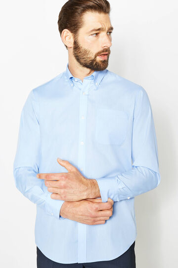 Regular-fit formal shirt with small pocket, Soft Blue, hi-res