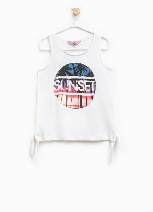 Top with ties and print | OVS