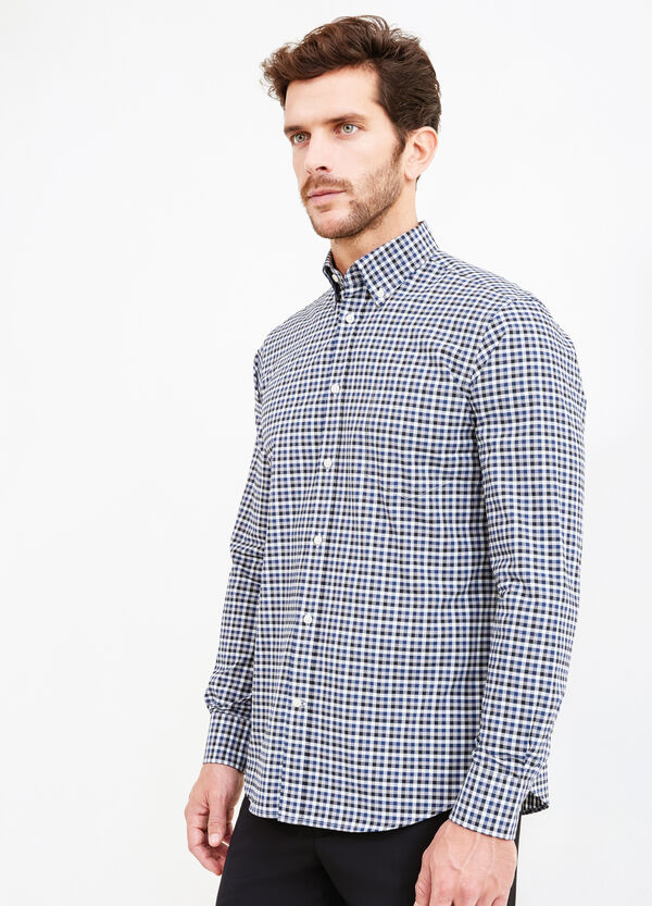 Check formal shirt in 100% cotton | OVS