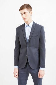 Custom-fit, two-button blazer, Slate Grey, hi-res