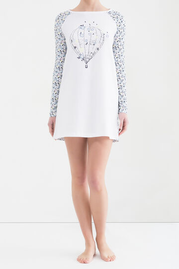 100% cotton nightshirt, Cream White, hi-res