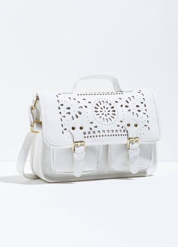 Openwork satchel bag with shoulder strap | OVS