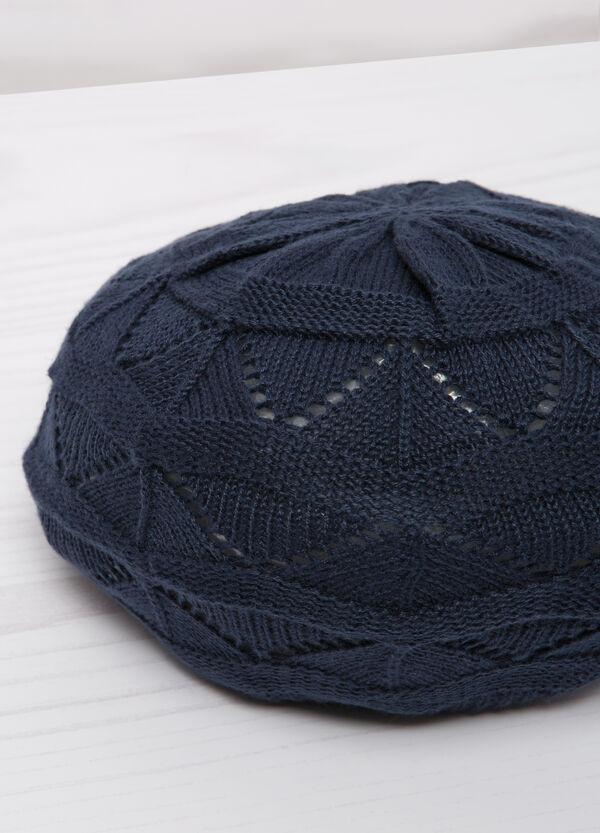 Openwork cotton beret   OVS