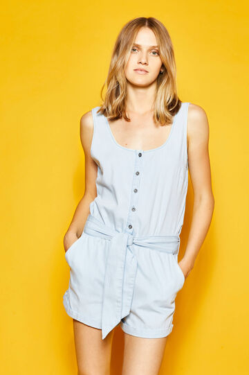 Cotton dungarees with belt