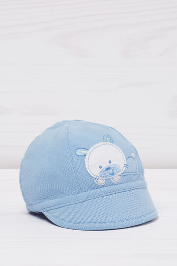 Cotton hat with animal patch, Light Blue, hi-res