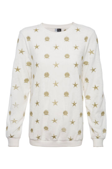 OVS Arts of Italy sweatshirt with lurex embroidery