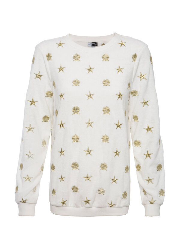 OVS Arts of Italy sweatshirt with lurex embroidery | OVS