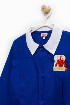 Cotton blend Iron Man smock, Royal Blue, hi-res