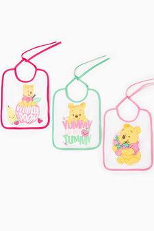 Three-pack Winnie the Pooh bibs, Multicolour, hi-res